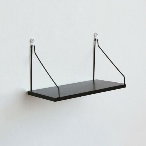 Retro Wand Regale Speichereinheit Holz Industriell Stil Metalldraht Rack Display