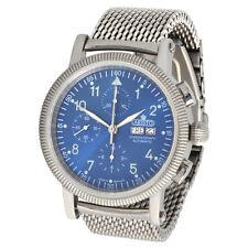 ARISTO Herren Automatik Chronograph Armbanduhr 4H86B Milanaise ETA Valjoux 7750