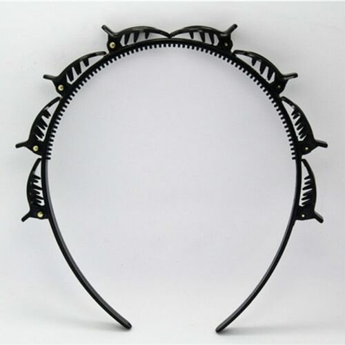 Women Girl Hair Band Hoop Accessories Twist Clip Pin Headband Toothed Braid Gift