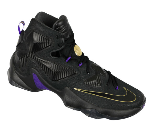 best service 01b6f 9a9c4 NIKE Lebron XIII Basketball Shoes sz 12 Black Hyper Grape Pot of Gold  Edition 13