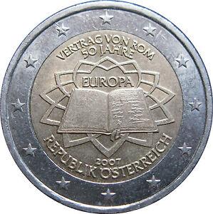 2-EURO-COMMEMORATIVE-AUTRICHE-2007-TRAITE-DE-ROME