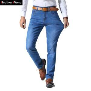 Pantalones Para Hombres De Vestir Elegante Moda Pantalon Vaquero Jeans Clasico Ebay