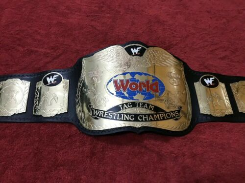 WWF ATTITUDE ERA TAG TEAM CHAMPIONSHIP BELT IN 4MM BRASS PLATES