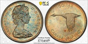 1967-CANADA-SILVER-DOLLAR-PCGS-MS64-BU-UNC-COLOR-TONED-TRUE-VIEW-MONSTER-29