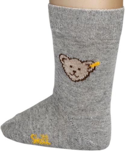 STEIFF® Socken Söckchen Grau Bär Gr 56-128 Basic Mädchen Junge 24059-3400 NEU!