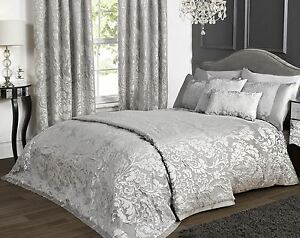 Incroyable Image Is Loading Marston Damask Duvet Cover Embossed Floral Motif Silver