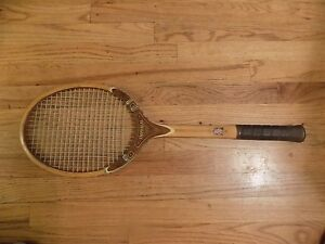 Details About Vintage C1970s Tad Davis Wood Tennis Racket Imperial Usa Strung