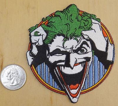 "IRON-ON SEW-ON EMBROIDERED PATCH 3  /""X  3 1//2 /"" DC/'S RETRO JOKER"