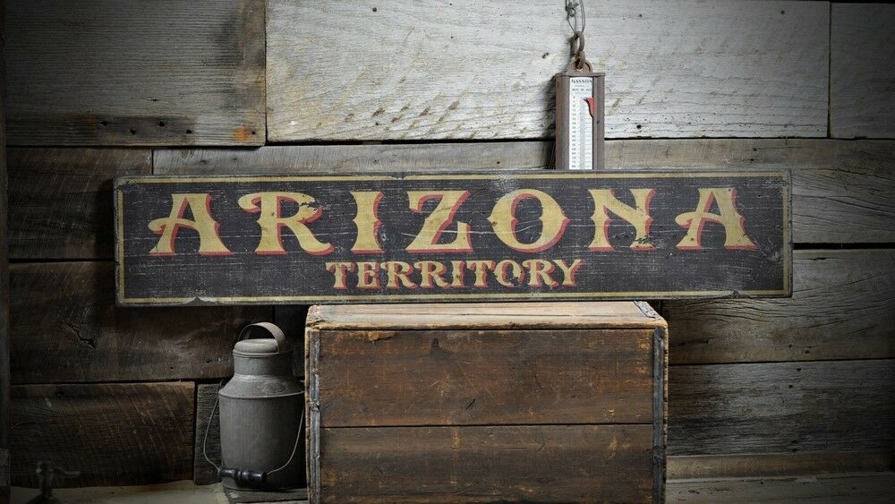 Distressed Arizona Territory Sign - Rustic Hand Made Vintage Wooden ENS1000579