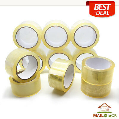 12 Rolls Clear EXTRA STRONG Parcel Carton Tape Packing Packaging 48mm x 66m
