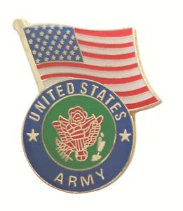United States Army USA Symbol under usa Flag Pin Badge LAST FEW