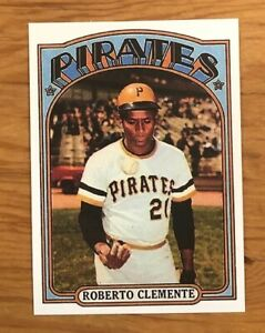 1972-Topps-Reprint-309-Roberto-Bob-Clemente-Pittsburgh-Pirates-Card-MINT-RP