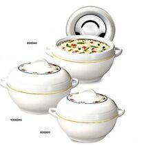 3pc Jumbo Ambient Hotpot Food Storage Warmer Round Insulated Large Casserole Set