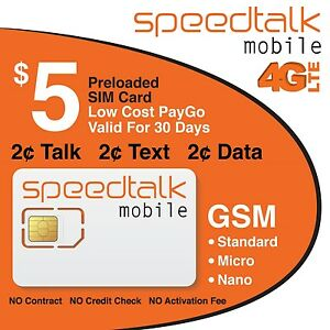 SpeedTalk-Mobile-Prepaid-Triple-Cut-GSM-Sim-Card-NO-CONTRACTPreloaded-with-5-00