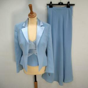 Designer-Dusk-Mother-of-The-Bride-Three-Piece-Outfit-Skirt-Top-Jacket-Tags-UK8