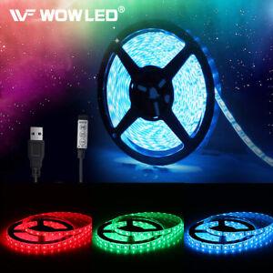 WOW-5V-5050-RGB-LED-Strip-Light-Colour-Changing-USB-TV-PC-Back-Mood-Lighting