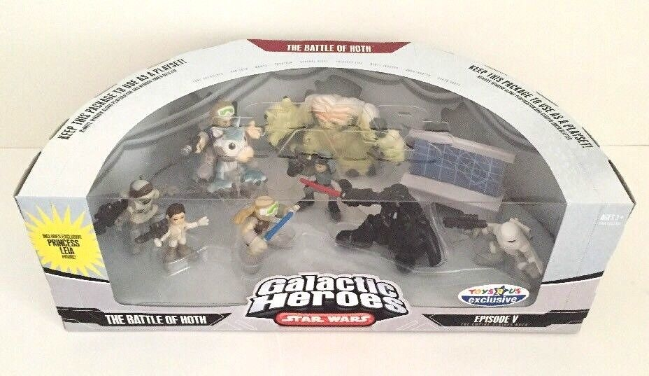Star Wars  Galactic Heroes la Bataille de Hoth Toys R Us Exclusive Figure Playset  abordable