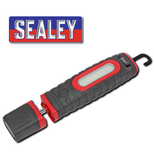 Sealey LED3606R rechargeable 360 Baladeuse 24 DEL SMD 3 W DEL rouge torche
