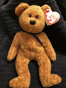 FUZZ the Bear Ty Beanie Baby 1998 Retired MWMT Plush Stuffed animal toy