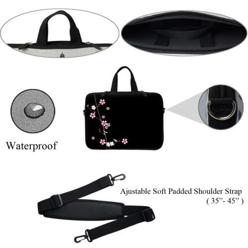 """Neoprene Laptop Bag w Hidden Handle /& Shoulder Strap Fit Chromebook 11.6/"""" 2901"""