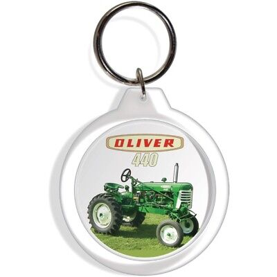 OLIVER FARM GARDEN LAWN TRACTOR KEYCHAIN KEYRING KEY RING FOB HOLDER HOOK PART