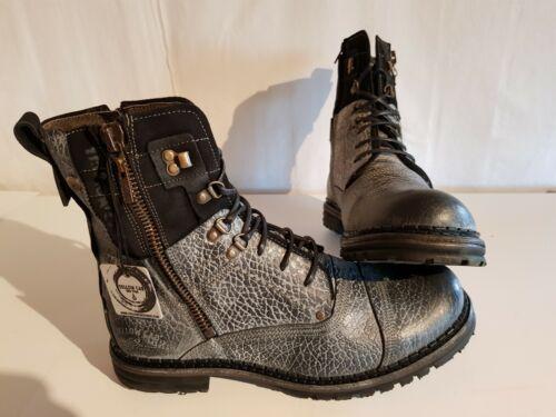 Yellow Cab Sergeant Herren Black Leather Boots-used Größe 41-42-44-45 NEU