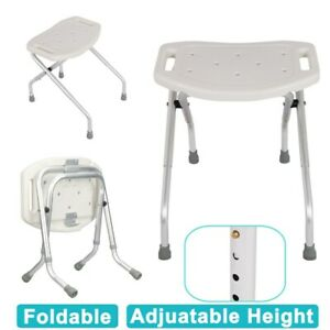 Fine Details About New Portable Folding Height Adjustable Shower Stool Bath Disability Aid Seat Pdpeps Interior Chair Design Pdpepsorg