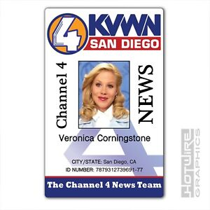 Kvwn Series - tv Ebay Id Corningstone 620444490375 Veronica Card Prop Plastic Anchorman