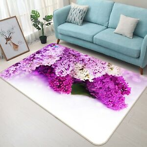 3D-Violet-Fleurs-210-Etage-Antiderapant-Natte-Elegant-Tapis-FR-Tiffany