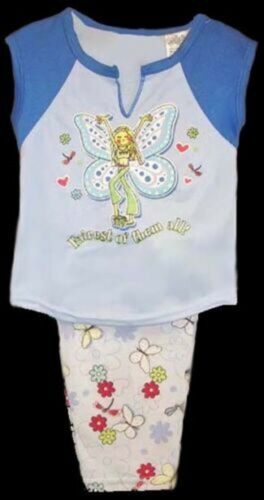 1 Set 2T-3T-4T  Blue Color PJ6052 Z 2 Pc  Girls PJ/'s Pajamas Sets Sizes