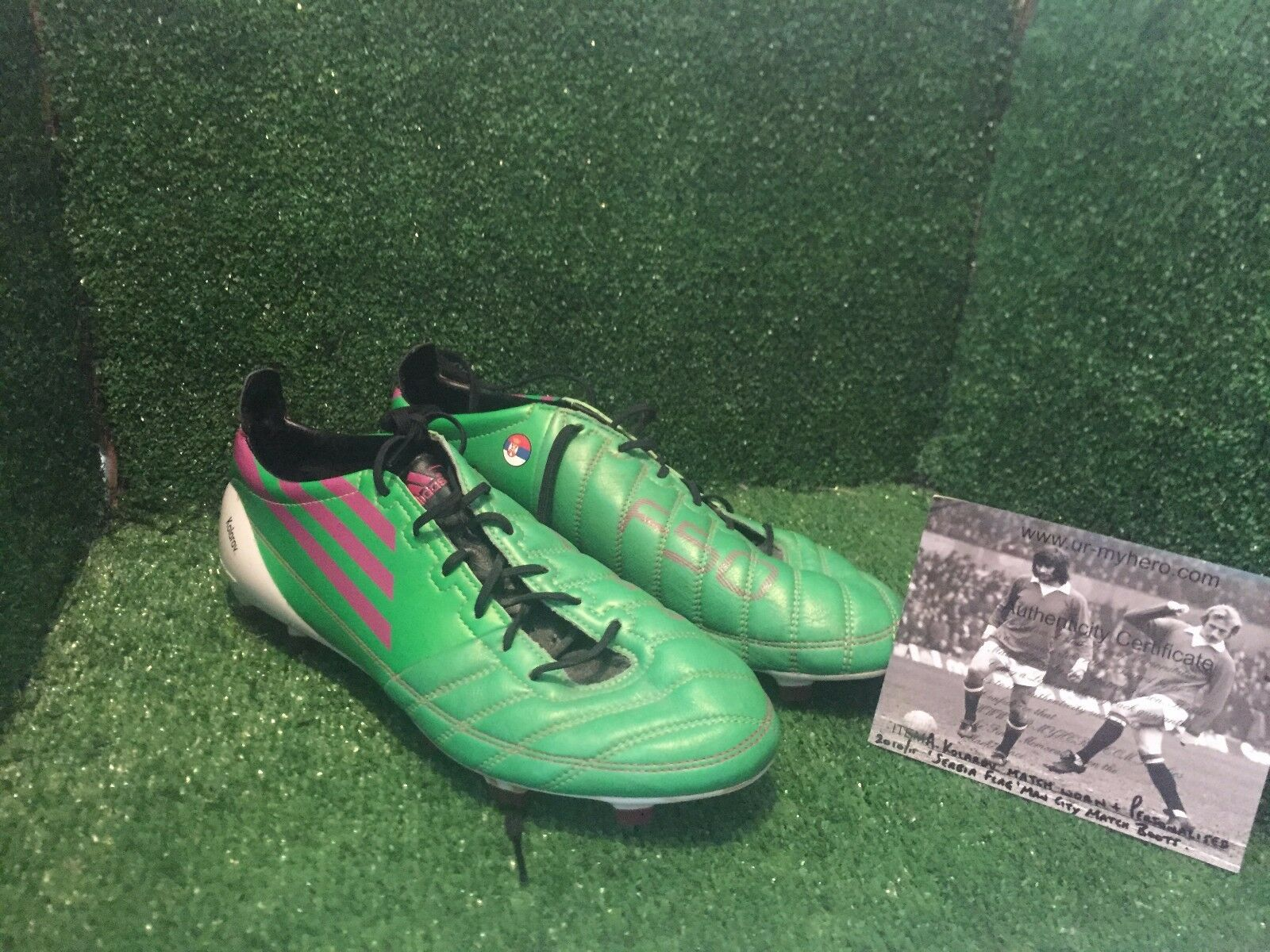 MATCH WORN ADIDAS F50 Kolarov LAZIO MANCHESTER CITY SERBIA FOOTBALL stivali