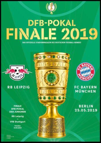 Bayern München Programm /& Aufstellung DFB Pokal Finale 2019 RB Leipzig