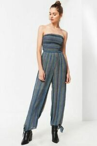 3ed0abb2ad5 Image is loading 189921-NWT-Urban-Outfitters-Blue-Uo-Strapless-Smocked-