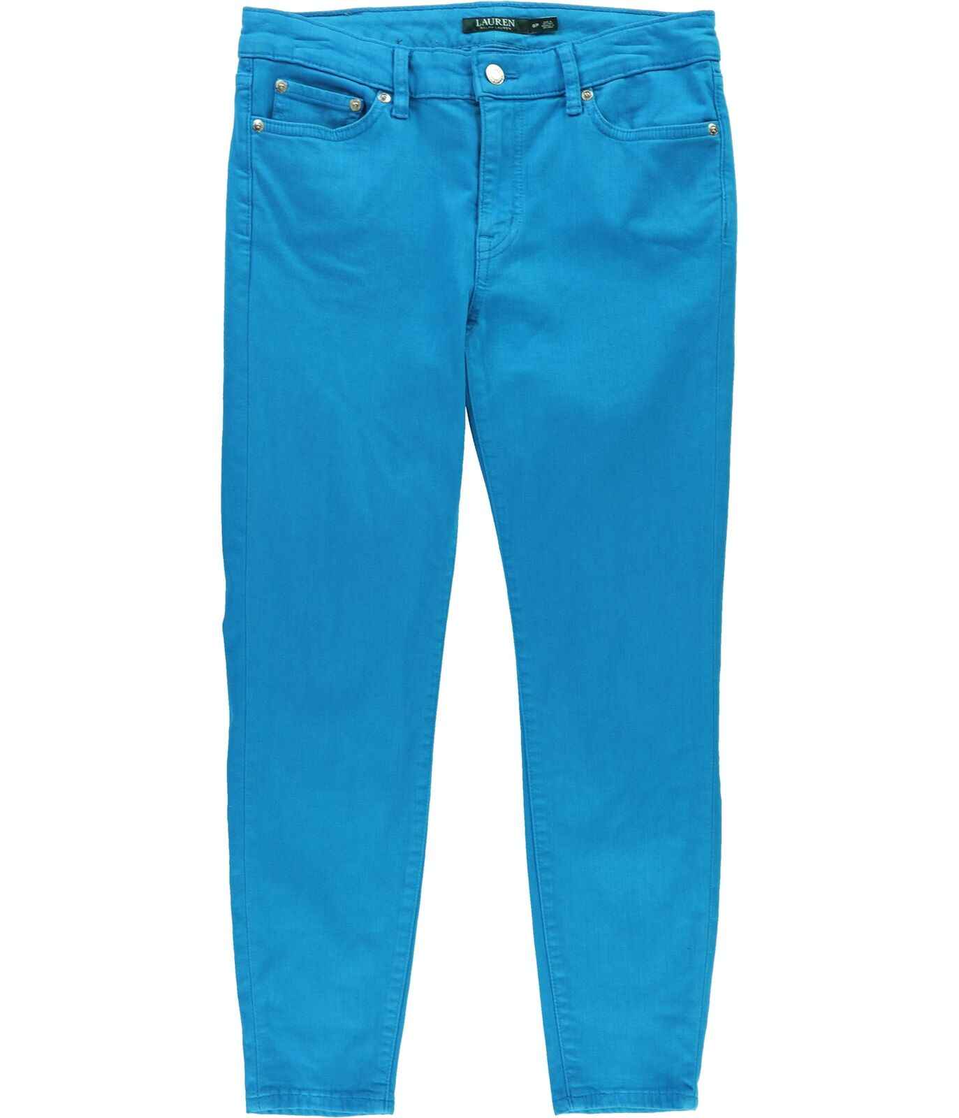 Ralph Lauren Womens Superstretch Skinny Fit Jeans bluee 8P 25 - Petite