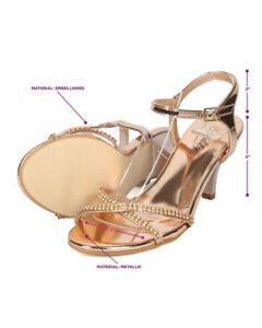 66f68137e3fff0 Image is loading New-Women-Indulge-GAGA-Metallic-PU-Rhinestone-Ankle-