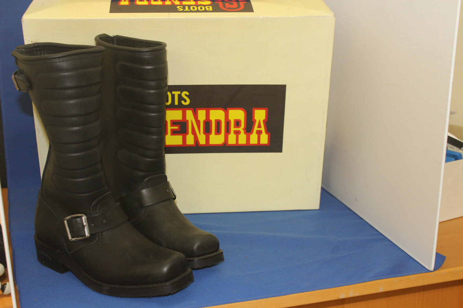 Sendra Boots cowboystiefel westernstiefel Biker neu leder handmade  gr. 38 black