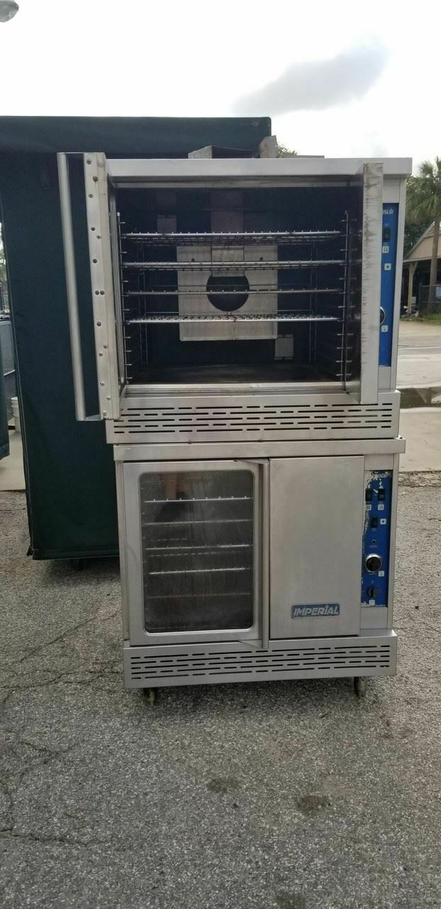 Imperial Icv-2 Double Deck Gas Convection Oven Full Size on