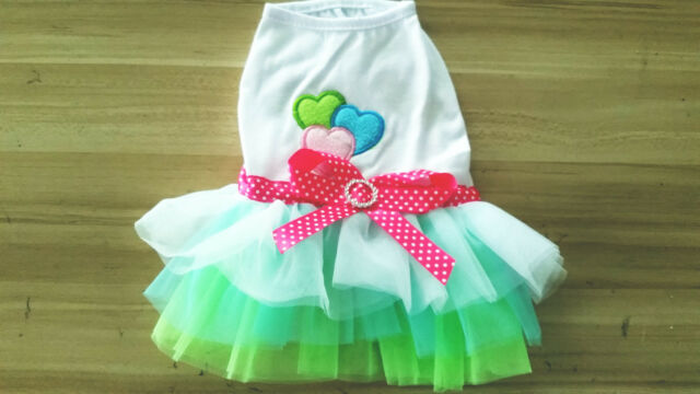 Cute Puppy Pet Dog Tutu Dress Lace Skirt Cat Princess Dress Small Dog Clothes