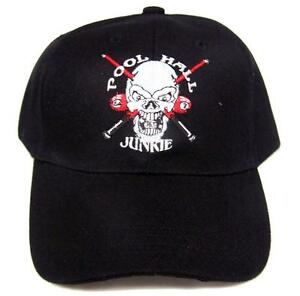 POLL HALL JUNKIE SKULL BASEBALL HAT ball cap  10 mens womens ONE ... 84ee7a57d7f