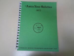Le Prix Le Moins Cher Amica Bulletin 1972 Automatique Instrument Musical Collectors Association Livre-afficher Le Titre D'origine