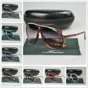 New Arrived Men Women Retro Sunglasses Square Matte Metal Frame Carrera Glasses