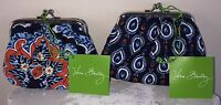 Vera Bradley Kiss Kiss Coin Purse Marrakesh Or Marrakesh Motifs Kisslock
