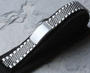 Short-vintage-Beads-of-Rice-watch-band-compatible-with-Heuer-HLC-HLD-or-HLF-ends