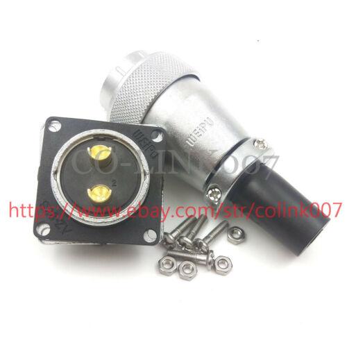 WS28 2Pin Power Connector,50A Aviation Bulkhead Connector Electrical Plug-female