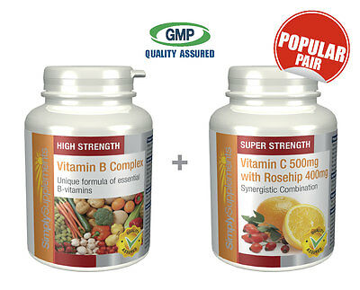 SS Vitamin B Complex 120 Tabs & Vitamin C 500mg with Rosehip 400mg 120 Tabs
