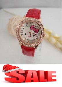 3fcc4bd33 Hot Sales hello kitty watch children girl crystal dress quarts women ...