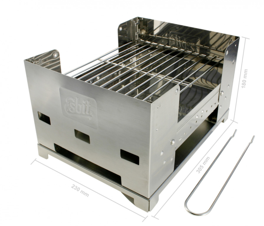 ESBIT Inox Barbecue Camping Grill BBQ-Box pliante barbecue charbon de bois barbecue