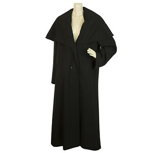 Details about Maura Styled By Claudia Sträter Black Triacetate Trench Long Coat size 40