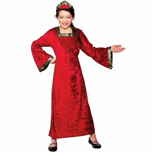 Girls Tudor Princess Costume For Medieval Fancy Dress Childrens Kids Childs M