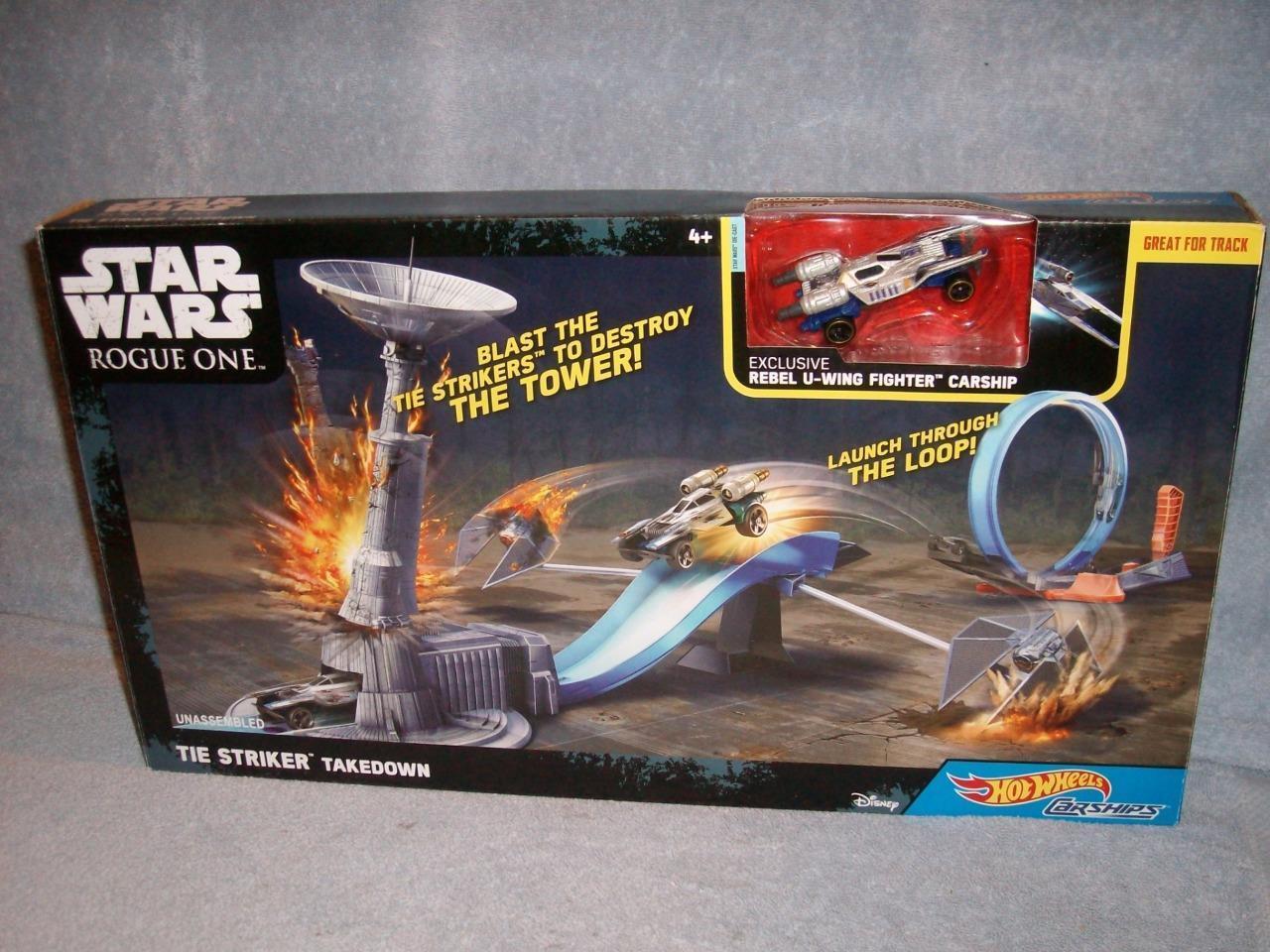 Tie Striker Takedown U-Wing Star Wars Rogue One Hot Wheels Carships 2016 New HTF